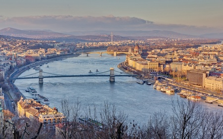 Budapest view from Gellert hill, Hungary Stock Photo - 13453350