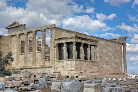 Erechtheum temple, Acropolis, Athens, Greece  photo
