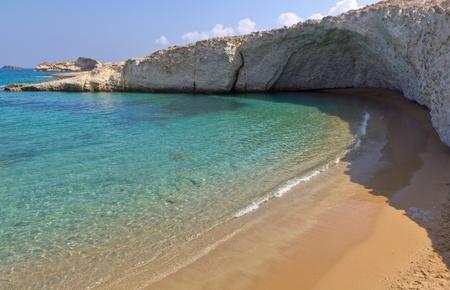 crystalline: Alogomantra beach, Milos island, Cyclades, Greece
