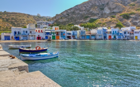 Klima fishing village, Milos island, Cyclades, Greece  photo