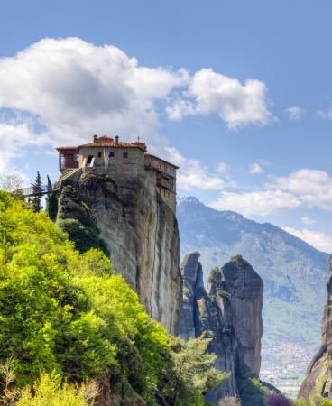 monasteri: Monastero di Rousanou, Meteora, Grecia Archivio Fotografico