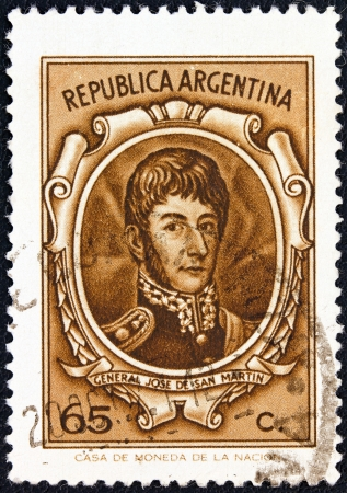 ARGENTINA - CIRCA 1970: A stamp printed in Argentina shows General Jose de San Martin, circa 1970.