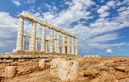 ポセイドン神殿、アテネ、ギリシャ 写真素材