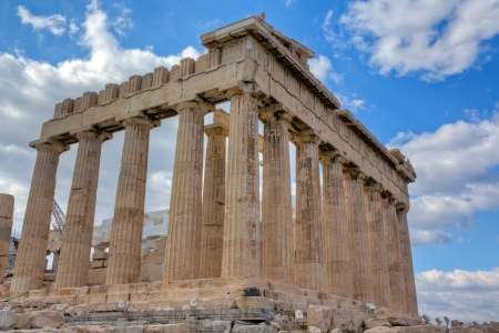 Parthenon southeast side view, Acropolis, Athens, Greece  photo