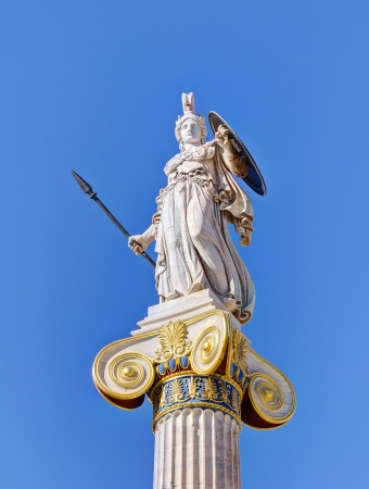 Statue of goddess Athena, Athens, Greece  Stok Fotoğraf