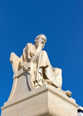 ソクラテス、アカデミー アテネ、ギリシャ 写真素材
