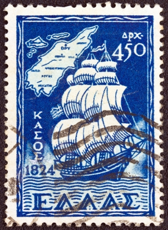 GREECE - CIRCA 1947: A stamp printed in Greece , from the