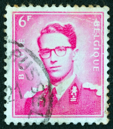 stempeln: BELGIUM - CIRCA 1970: A stamp printed in Belgium shows King Baudouin, Marchant type, circa 1970. Editorial