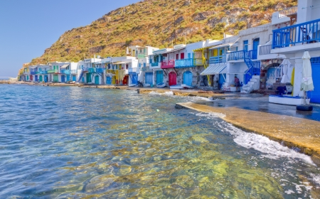 greek islands: Klima fishing village, Milos island, Cyclades, Greece