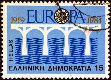 GREECE - CIRCA 1984: A stamp printed in Greece from the