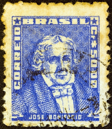 stempeln: BRAZIL - CIRCA 1954: A stamp printed in Brazil from the Portraits issue shows Jose Bonifacio, circa 1954.