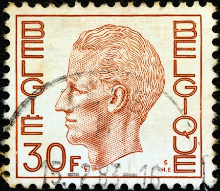 belgien: BELGIUM - CIRCA 1971: A stamp printed in Belgium shows King Baudouin, circa 1971. Editorial