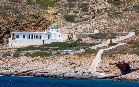kyklades: Beautiful chapel in Sifnos island, Cyclades, Greece Stock Photo