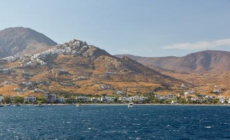 chora: Vista de la aldea de Chora, Serifos isla, Cyclades, Greece Foto de archivo