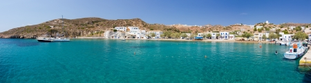 Panorama of Psathi harbor, Kimolos island, Cyclades, Greece photo