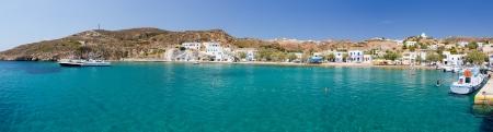 Panorama of Psathi harbor, Kimolos island, Cyclades, Greece