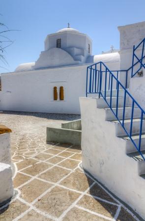kyklades: Church in Chorio village, Kimolos island, Cyclades, Greece Editorial