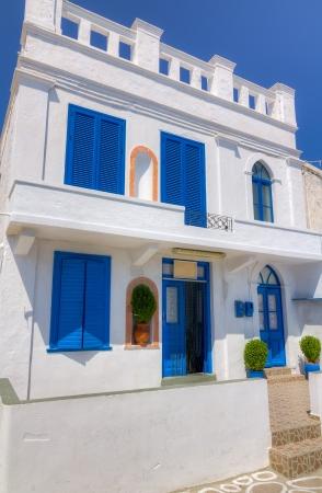 kyklades: Beautiful cycladic architecture in Kimolos island, Cyclades, Greece Editorial