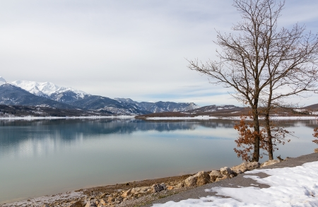 thessaly: Lake Plastiras in the winter, Thessaly, Greece