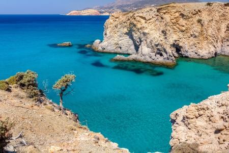 Beautiful coastline near Tsigrado, Milos island, Cyclades, Greece