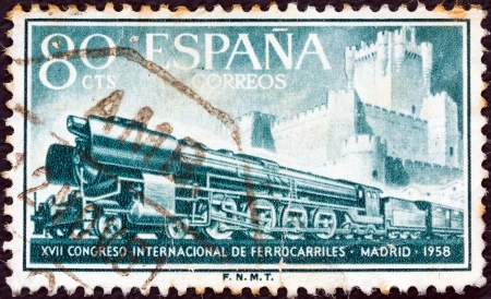 SPAIN - CIRCA 1958: A stamp printed in Spain from the