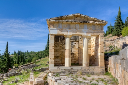 Athenian treasury, Delphi, Greece Stock Photo - 15767625