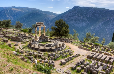 grecia antigua: Santuario de Athena Pronaia, Delphi, Grecia