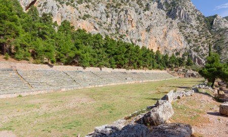 Ancient stadium of Delphi, Greece photo