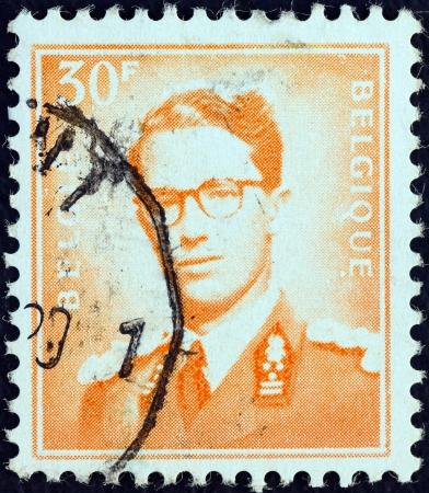 baudouin: BELGIUM - CIRCA 1953: A stamp printed in Belgium shows King Baudouin, Marchant type, circa 1953. Editorial