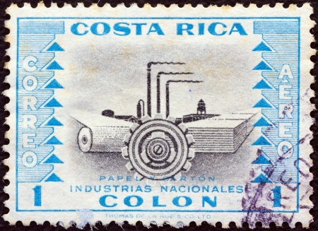 COSTA RICA - CIRCA 1954: A stamp printed in Costa Rica from the