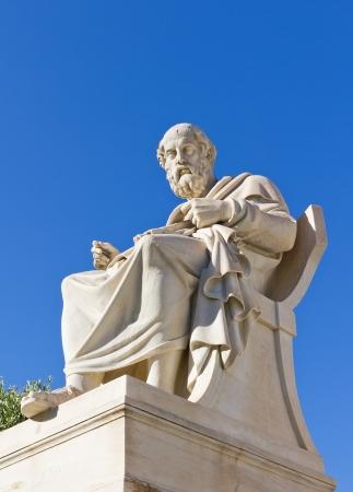 platon: Plato, Academy of Athens, Greece Stock Photo