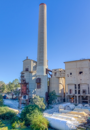 cement chimney: Abandoned cement factory