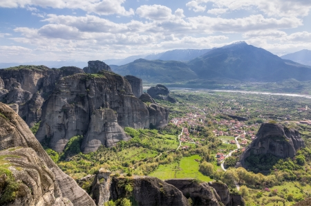 thessaly: View from Meteora, Thessaly, Greece Stock Photo