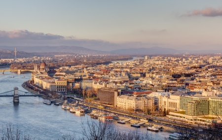 Budapest view from Gellert hill, Hungary Stock Photo - 17014250