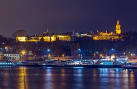 Night view of Topkapi Palace, Istanbul, Turkey