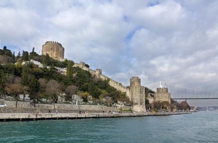 mehmed: View of Rumelihisar, with the Fatih Sultan Mehmet Bridge in the background, Istanbul, Turkey