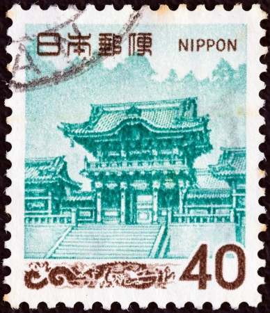 JAPAN - CIRCA 1966: A stamp printed in Japan shows Yomei Gate, Tosho Shrine, Nikko, circa 1966.