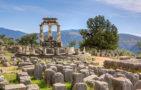 Sanctuary of Athena Pronaia, Delphi, Greece Stock Photo - 17346898