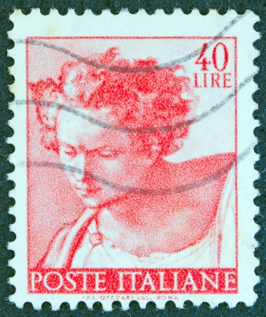 ITALY - CIRCA 1961: A stamp printed in Italy from the