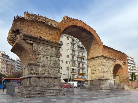 ガレリウス凱旋門、テッサロニキ、ギリシャ 写真素材