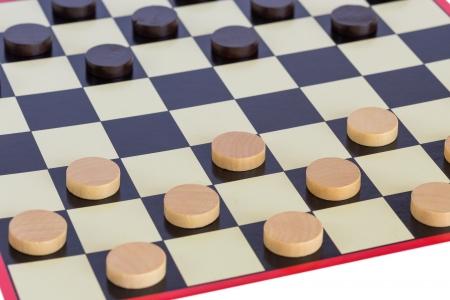 Checkers board game photo