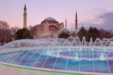Hagia Sophia at sunset, Istanbul, Turkey photo