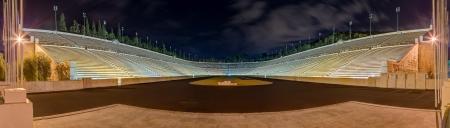 Panorama of Panathinaiko stadium, Athens, Greece