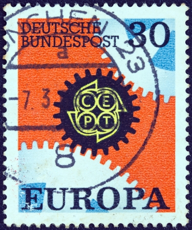 GERMANY - CIRCA 1967: A stamp printed in Germany from the