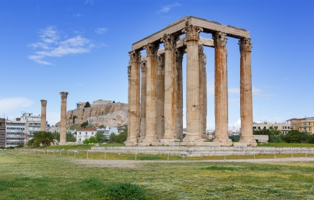 olympian: Temple of Olympian Zeus, Acropolis in background, Athens, Greece