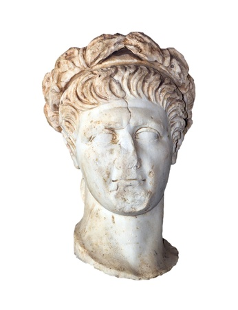 reign: Bust of Roman Emperor Trajan (Reign 98-117 AD) Stock Photo