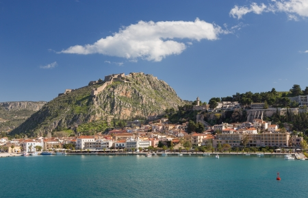 Nafplio town and Palamidi castle, Greece photo