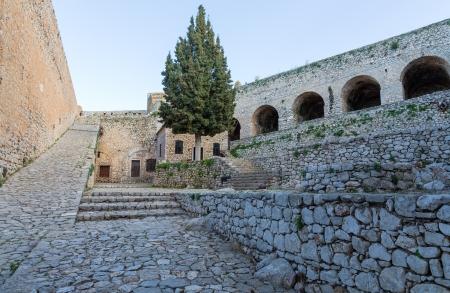 nafplio: Palamidi fortress in Nafplio, Greece Stock Photo