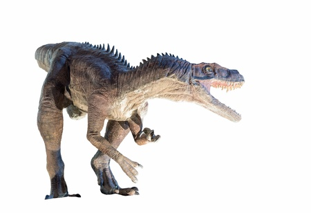 Restoration of a Herrerasaurus ischigualastensis  dinosaur isolated  Фото со стока