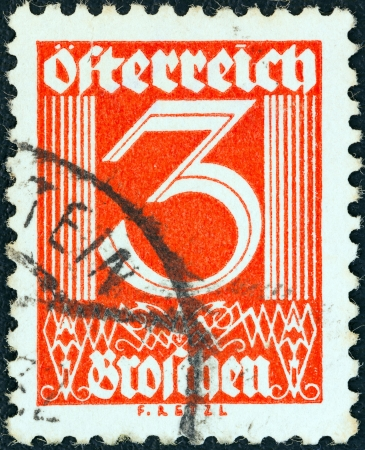 AUSTRIA - CIRCA 1925: A stamp printed in Austria shows numeric value, circa 1925.  Stock Photo - 18739946